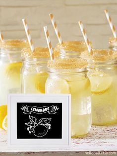 Lemonade! Perfect for a spring or summer party.  hellobali.etsy.com