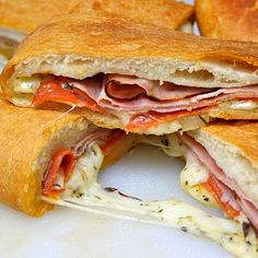 Becky's Famous Football Party Stromboli. a favorite for football weekends, my kids discovered this stromboli and now ask for it for dinner! I Love Food, Good Food, Yummy Food, Great Recipes, Dinner Recipes, Favorite Recipes, Yummy Recipes, Entree Recipes, Brunch