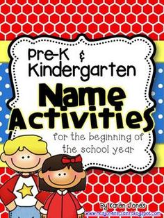 Pre-K/Kindergarten Name Activities for the beginning of the year. It is on teacher pay teachers for $5.00