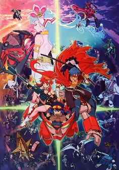 Day 11: Gurren Lagann, so this is the only mech anime i'm watching and I'm only on episode 2 sooooooo............