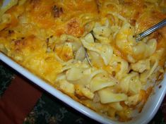 Chicken Noodle Casserole for a cold lazy night