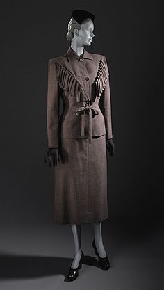 Adrian suit ca. 1947 via The Los Angeles County Museum of Art