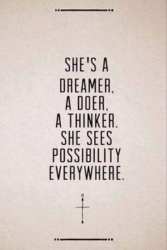 Dreamer and a thinker