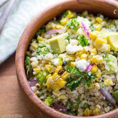 Charred Corn Salad with Feta, Mint, and Quinoa