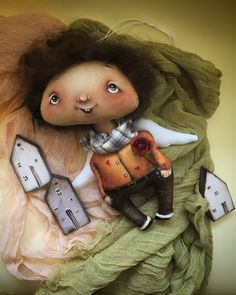 Cute Dolls, Crochet Dolls, Sculpting, Doll Clothes, Teddy Bear, Christmas Ornaments, Toys, Holiday Decor, Mini