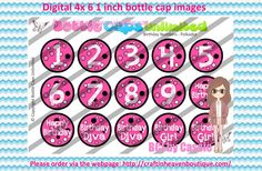 Instant Download  birthday numbers  by BottleCapImagesCass on Etsy   #bottlecapimages #bottlecap #BCI #shrinkydinkimages #bowcenters #hairbows #bowmaking #ironon #printables #printyourself #digitaltransfer #doityourself #transfer #ribbongraphics #ribbon #shirtprint #tshirt #digitalart #diy #digital #graphicdesign please purchase via link  https://www.etsy.com/au/shop/BottleCapImagesCass