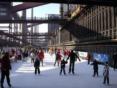 essen zollvereien - ice skating
