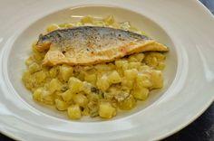 Martinas Kochküche: Rahmkartoffeln mit gebratenem Wolfsbarsch