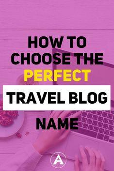 13 Best Travel Blog Names images in 2019 | Blog names