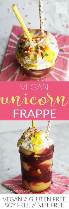 vegan unicorn frappe