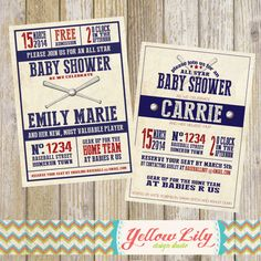 Vintage Baseball Baby Shower Invitation- baseball, babyshower, DIY, printable on Etsy, $12.00. Update wording for birthday party!