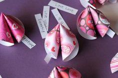 DIY Paper Fortune Cookie Valentines