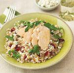 Maple-Glazed Chicken with Cranberry Arugula Rice