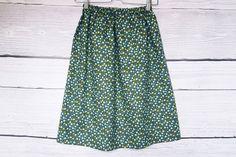 Blue skirt in  flowers,navy skirt,skirts for women,drape skirt,elastic waist skirt, Elastic Waist Skirt, Draped Skirt, Navy Skirt, Trending Outfits, Skirts, Flowers, Blue, Etsy, Vintage