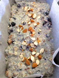 Blueberry coconut oat breakfast loaf clean eating