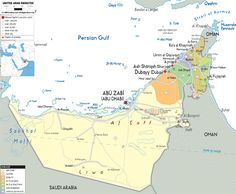 Map of United Arab Emirates and UAE Political Map