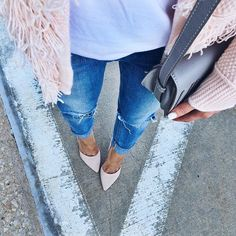 In case you were looking for some pale pink suede pumps. // #igotyoucovered #ontheblog #ltkshoecrush @liketoknow.it www.liketk.it/1UW0E #liketkit #pretty #pink #classic