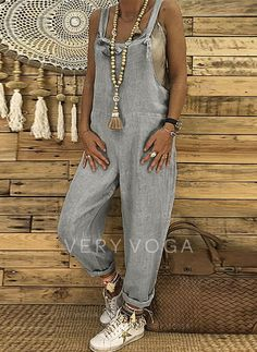 Cute Overalls, Overalls Women, Casual Jumpsuit, Jumpsuit Dress, Casual Dresses, Casual Outfits, Boho Fashion, Fashion Outfits, Hippie Outfits