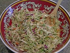 Asian Coleslaw, a Delicious Side Dish for Your Homemade Holidays | Busy-at-Home