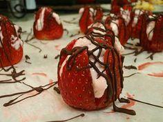 Stuffed Strawberries - easy elegant dessert