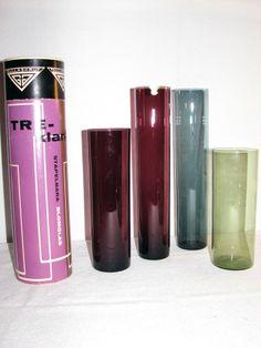 """Set of vases """"Treklang"""", Gullaskrufs glass mill"""