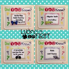 Kids LOVE random facts! Add these Did You Know? Facts to your morning routine!