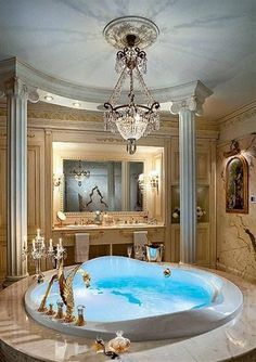 Master Bathroom Ideas Decor Luxury is definitely important for your home. Whether you pick the Luxury Bathroom Master Baths Beautiful or Luxury Bathroom Ideas, you will make the best Interior Design Ideas Bathroom for your own life. Dream Bathrooms, Dream Rooms, Beautiful Bathrooms, Luxury Bathrooms, Luxury Bathtub, Glamorous Bathroom, Luxury Kitchens, Bathroom Interior, Modern Bathroom