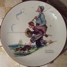 Norman Rockwell Plates Set Of 4 Made Exclusively For Imm