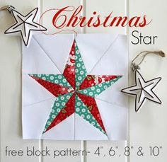 Threadbare Creations- Free Christmas Star Block Pattern