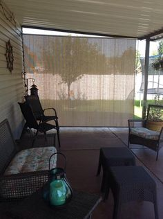 Coolaroo Cordless Exterior Outdoor Roller Shade 10ftX 8ft Roll Up ...
