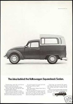 VW Volkswagen Bug Bus Squareback Sedan Car (1971)