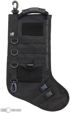 Tactical Stocking w/ MOLLE **Hero Provisions: off duty apparel, gear & gifts for Police, Fire, EMS, Military & Private Security** My husband sooo needs this! Cop Wife, Police Wife Life, Edc, Police Gear, Police Officer Gifts, Police Jokes, A Christmas Story, Christmas Gifts, Christmas Ideas