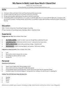 terribly typical mock resumes