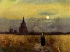 Old Tower at Sunset (1884) - Vincent van Gogh