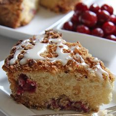 Minnesota State Fair Blue Ribbon Winning Recipe ~ Elaine Jana's Cranberry Streusel Coffeecake