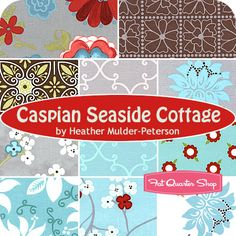 Caspian Seaside Cottage Fat Quarter Bundle Heather Mulder-Peterson for Henry Glass Fabrics