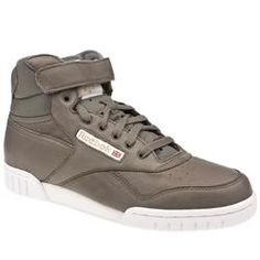 Reebok Male Reebok Ex-O-Fit Mid Clean Leather Upper Fashion Trainers in Grey REEBOK Reebok Ex-O-Fit Mid Clean A very popular style in the gym for men is the Ex-o-fit style from Reebok. The leather upper is made up of overlay sections with perf holes on the toe and tongue to al http://www.comparestoreprices.co.uk/trainers/reebok-male-reebok-ex-o-fit-mid-clean-leather-upper-fashion-trainers-in-grey.asp