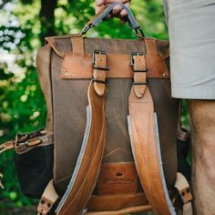 Dakota Vintage Commuter Backpack - Waxed Canvas & Leather