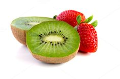 Check out Fresh kiwi and strawberry by Grounder on Creative Market