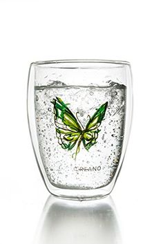 Creano Thermoglas Colourfly (im Schmetterling Design, grü... http://amzn.to/28VbOCe