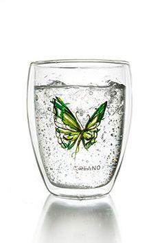 Creano Thermoglas Colourfly (im Schmetterling Design, grü... http://amzn.to/28VbOCe