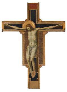 """Giotto - Croce dipinta - 1300 ca.- Tempio malatestiano di Rimini - da qui ebbe inizio la """"Scuola riminese"""""""