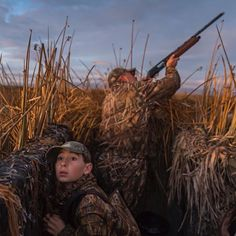 Steve Chappell and his son Nathan 10 duck hunting in the Suisun Marsh CA a part of the San Francisco Estuary. The marsh is now mostly cut off from tidal flows and managed for the benefit of the duck hunters. Photo by @peteressick on assignment for @natgeo by natgeo