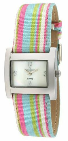 Peugeot Women's 3016PK Silver-Tone Canvas Ribbon Strap Watch Peugeot. $50.40. Limited lifetime warranty. Accurate Japanese quartz movement. Free lifetime battery replacement. Multi-color canvas strap. Water-resistant to 99 feet (30 M). Save 30%!
