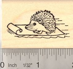 Sledding Hedgehog Rubber Stamp * Be sure to check out this awesome product.