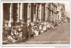 Adderley Street Flower Sellers Then