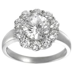 @Overstock - Tressa Collection Silver Round-cut Cubic Zirconia Bridal-style Ring - Sterling silver bridal engagement ringCubic zirconia gemstonesClick here for ring sizing guide    http://www.overstock.com/Jewelry-Watches/Tressa-Collection-Silver-Round-cut-Cubic-Zirconia-Bridal-style-Ring/7547371/product.html?CID=214117  $20.87