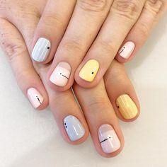 A pastel dream 💅: Hand drawn nail art by + Sun Bleached, Borrowed & Blue, Let's Be Friends Girls Nail Designs, Short Nail Designs, Nail Art Designs, Multicolored Nails, Nail Tattoo, Short Nails Art, Crazy Nails, Trendy Nail Art, Girls Nails
