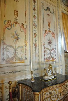 French painted panels, Villa Ephrussi de Rothschild
