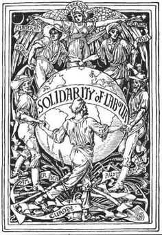Walter Crane, Solidarity of Labour, 1889 Walter Crane, Political Posters, Political Art, Fine Art Prints, Framed Prints, Canvas Prints, English Artists, Illustration Artists, Poster Size Prints